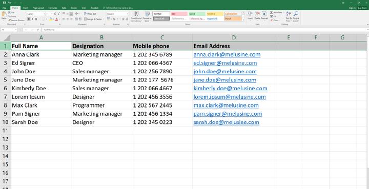 Prepare employee data in a CSV file. Photo: AdSigner