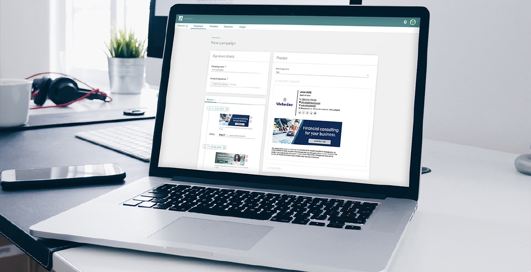 Ad banners added to the email signature are a new marketing channel being revealed by AdSigner. Photo: AdSigner