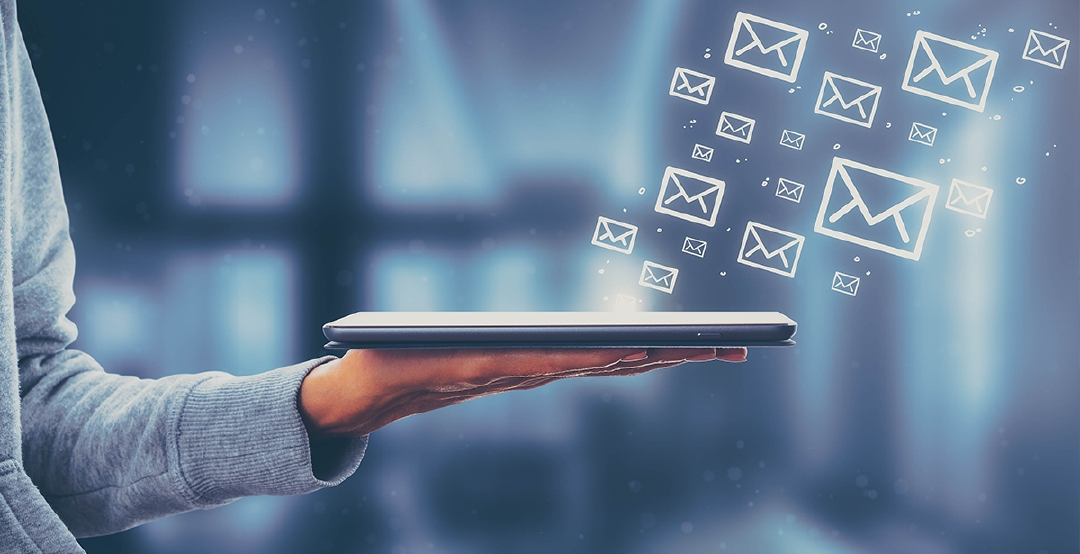 Nine business emails with clients per year can mean 900 sales opportunities (on the assumption that each agent has 100 clients). Photo: iStock