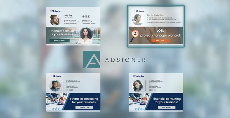 With the template, you specify the desired appearance of e-mail signatures for every users. Photo: AdSigner