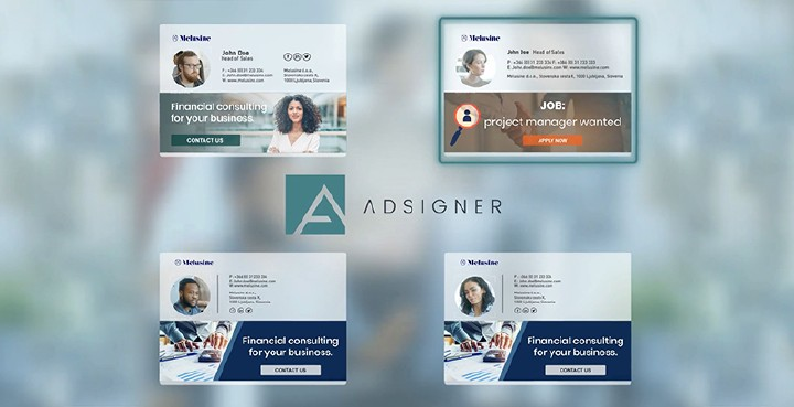 With the template, you specify the desired appearance of email signatures for every users. Photo: AdSigner