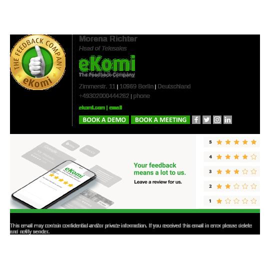 eKomi email signature