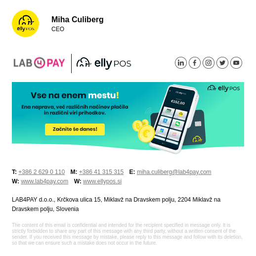 LAB4PAY email signature