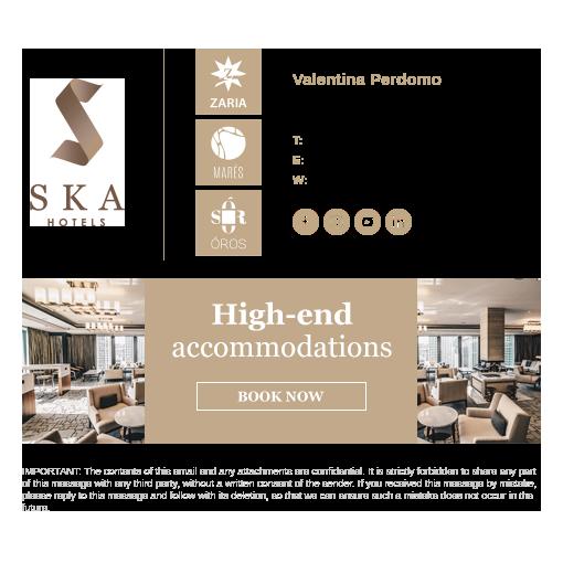 SKA Hotels email signature